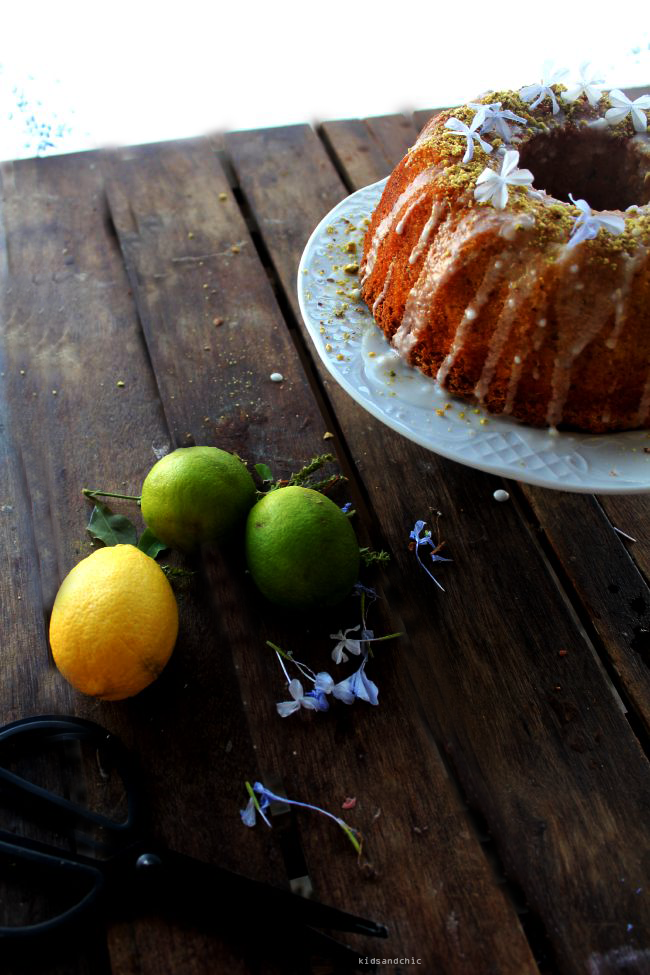 lemon lime pistachio bundt cake kidsandchic