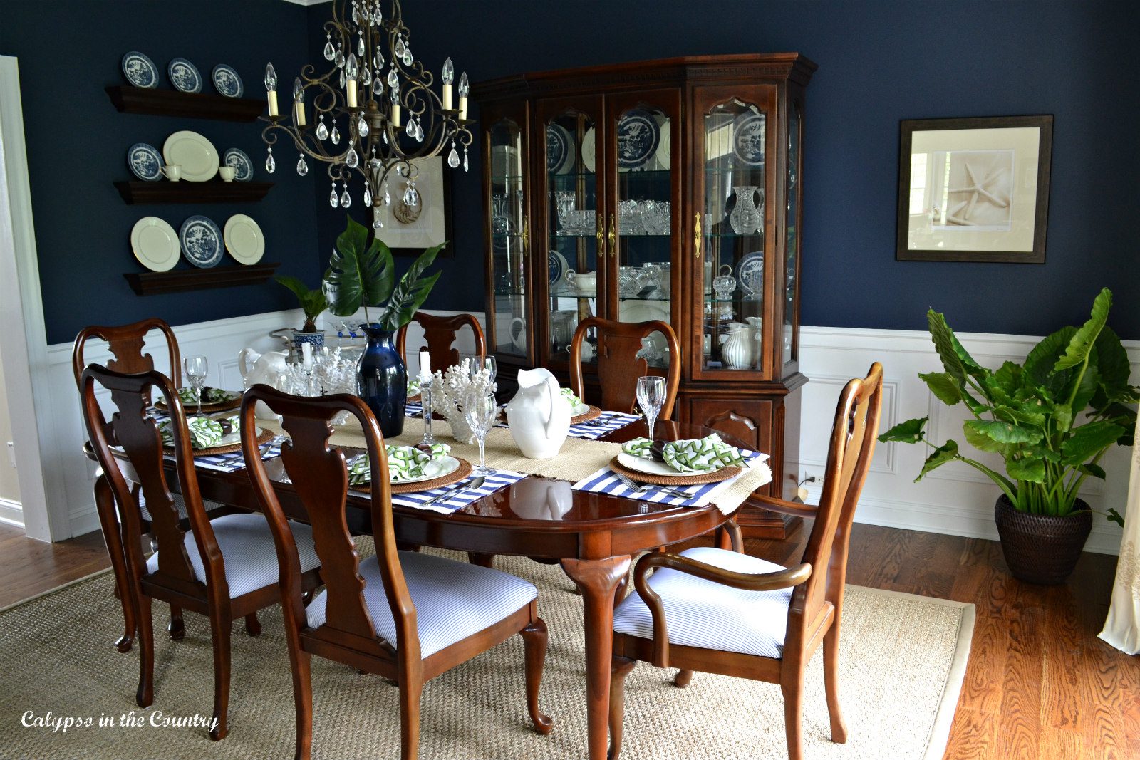 Dining Room Painted Sherwin Williams Naval
