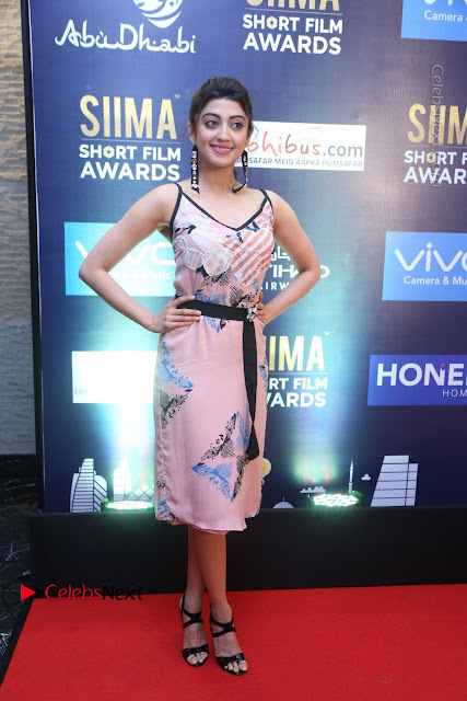 Actress Pranitha Subhash Pos in Short Dress at SIIMA Short Film Awards 2017 .COM 0005.JPG