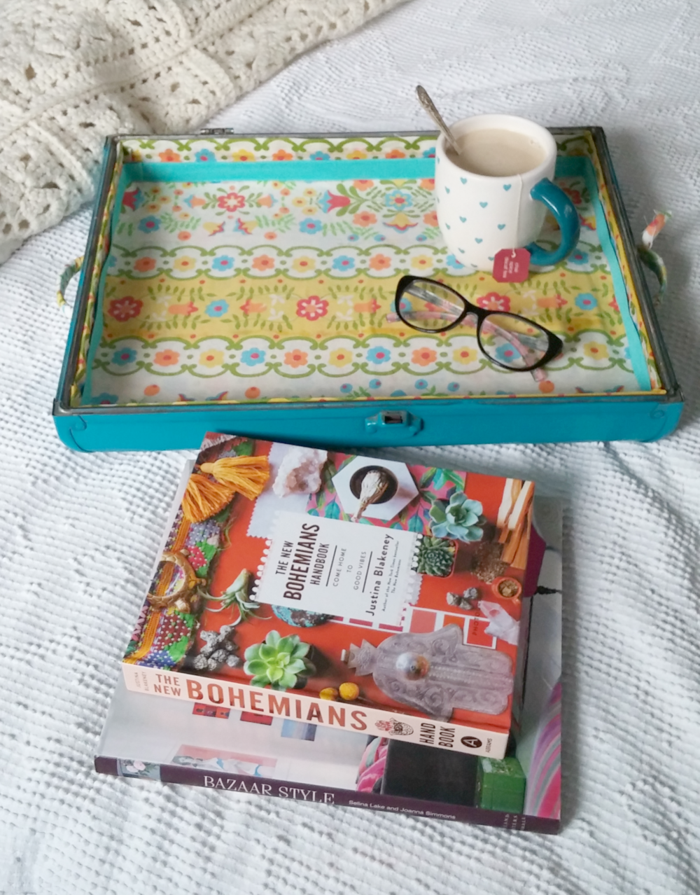 suitcase lid serving tray