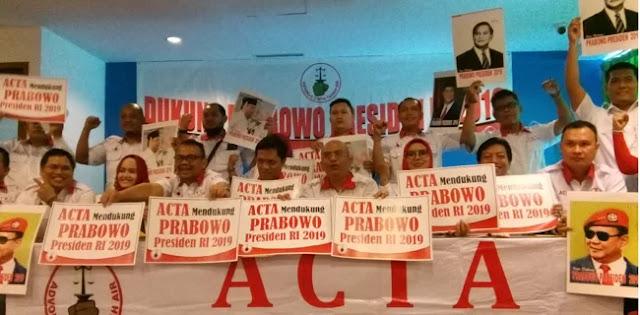 ACTA Deklarasikan Prabowo Sebagai Capres 2019