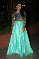 Nikki Galrani in Green Skirt  Top at Marakathamani music launch ~  Exclusive (31).JPG