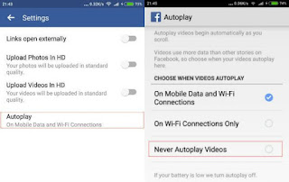 Android-Facebook-Autoplay-Setting ပိတ္နည္း