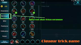 cara mudah menggunakan hero yun zhao di game mobile legends