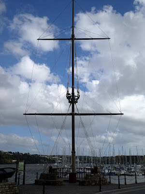 Replica galleon mast on Kinsale waterfront