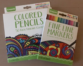Crayola Adult Colouring pens and pencils