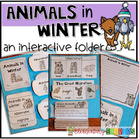 animals in winter interactive folder