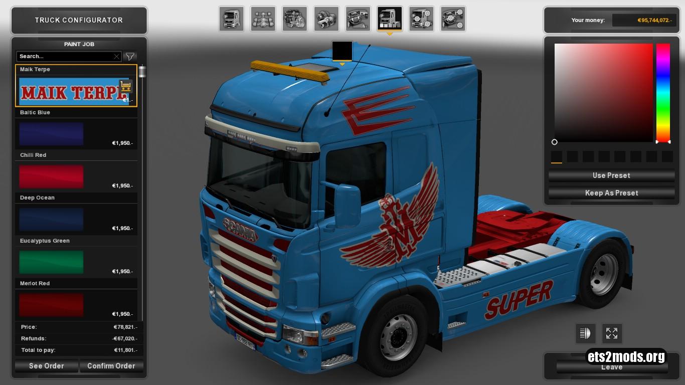 Maik Terpe Skin for Scania RJL