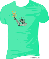 Lady Liberty  Disc Golf Shirt Brust