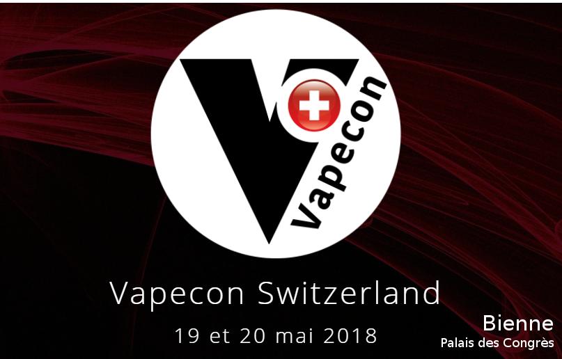 Convention de la vape Suisse les 19 et 20 mai au palais des