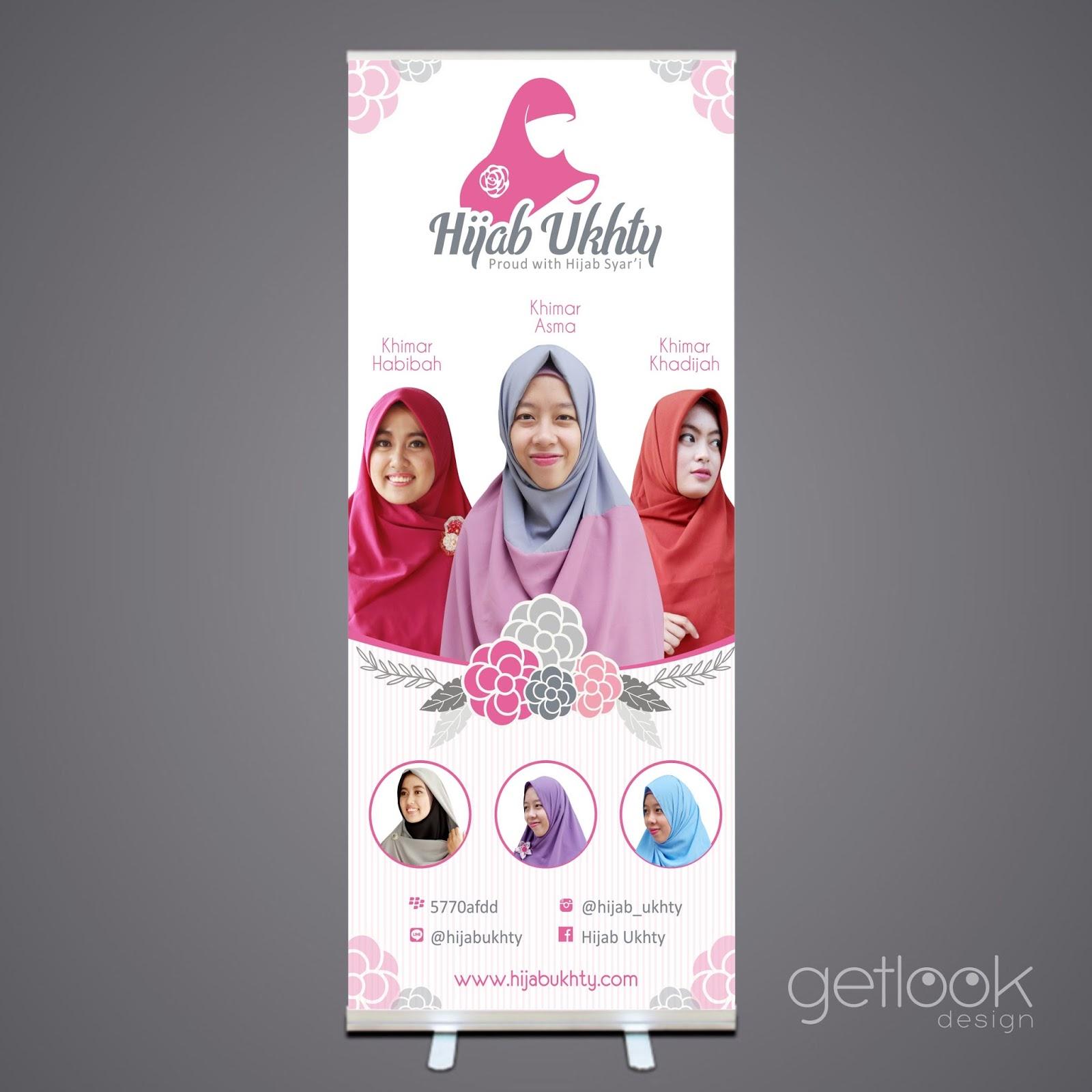 Desain x-banner hijab ukhty  getlookdesign