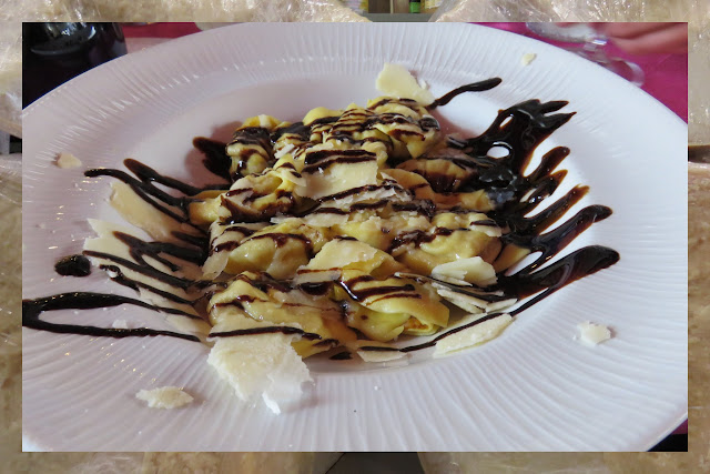 Emilia Romagna Destinations - Pasta drizzled with balsamic vinegar in Modena