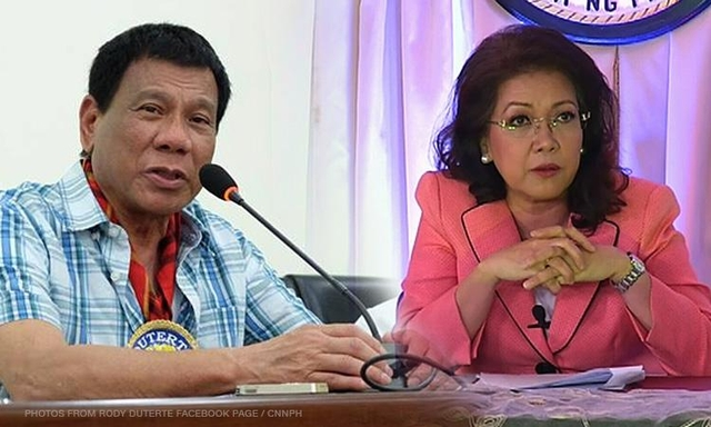 Pres. Duterte to Sereno: I'm just doing my duty