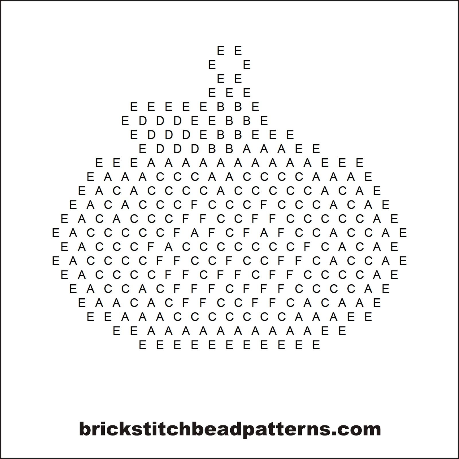 Free Halloween Jack O Lantern Pumpkin Brick Stitch Seed Bead Earring Pattern Letter Chart