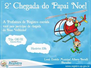Prefeitura convida para a 2ª chegada do Papai Noel
