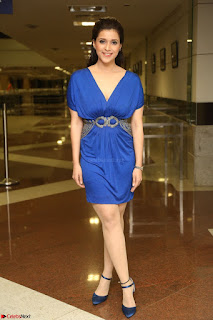 Mannara Chopra in Short Blue Dress at Rogue Movie Teaser Launch 1st March 2017 060.JPG