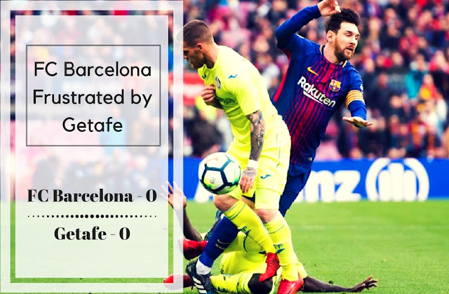 Lionel Messi fouled in the match in FC Barcelona's goalless draw against Getafe