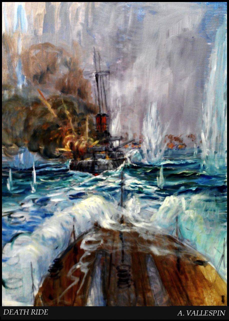 Tercera sesión Cabalgata de la muerte Jutlandia segundo boceto
