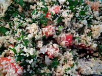 sweet kwisine, taboulé, boulgour, persil tomates, cuisine libanaise, cuisine légère