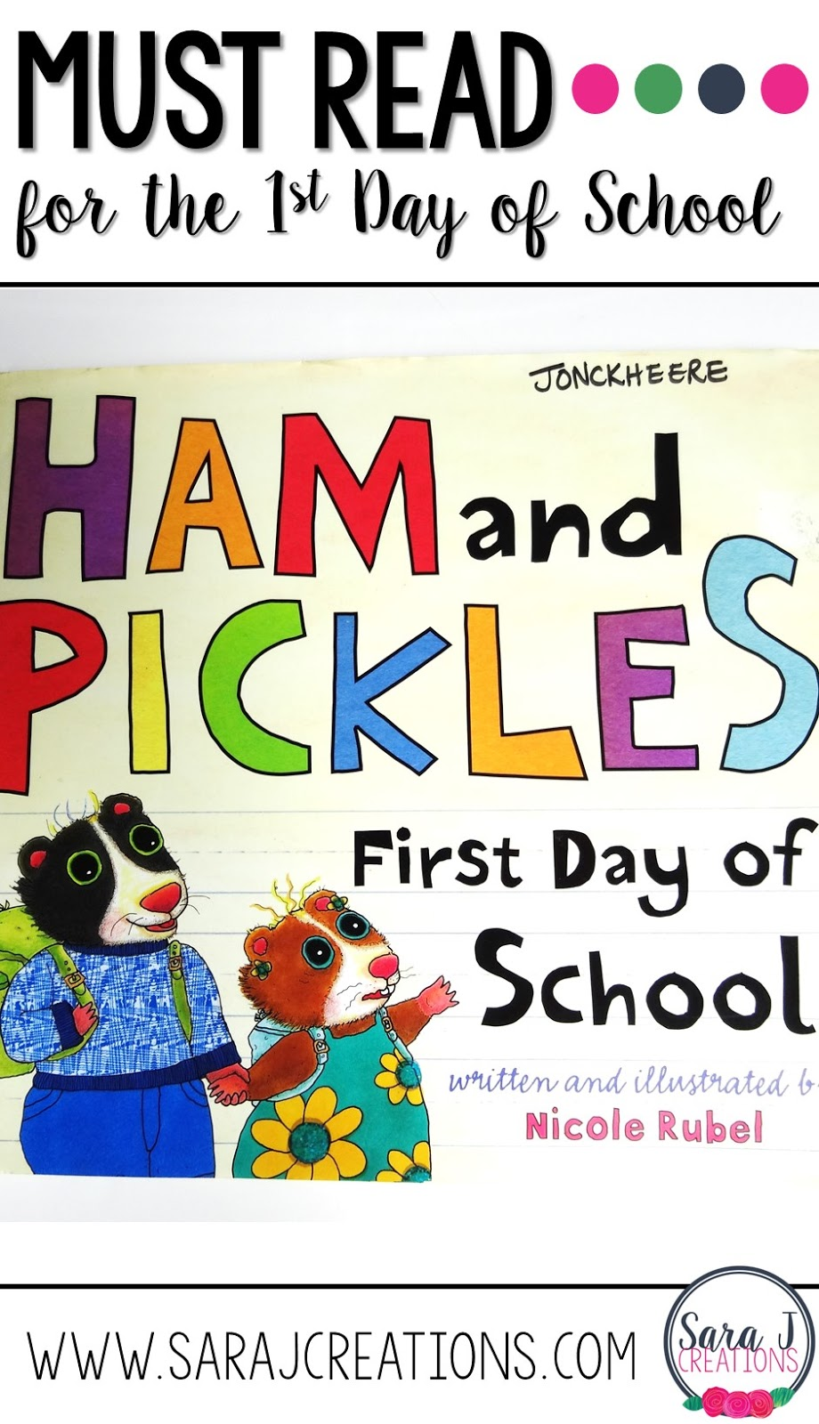 This is a funny book for back to school season and would be great on the first day of school.  The brother's silly advice for his sister's first day of school is funny to read to kids to ease their nerves.
