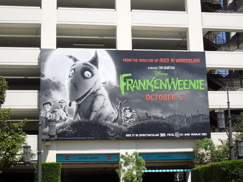 Disney Frankenweenie billboard