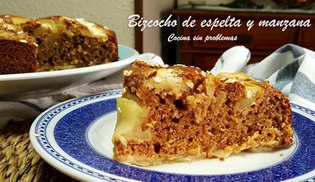 Bizcocho Fácil De Espelta Y Manzana.