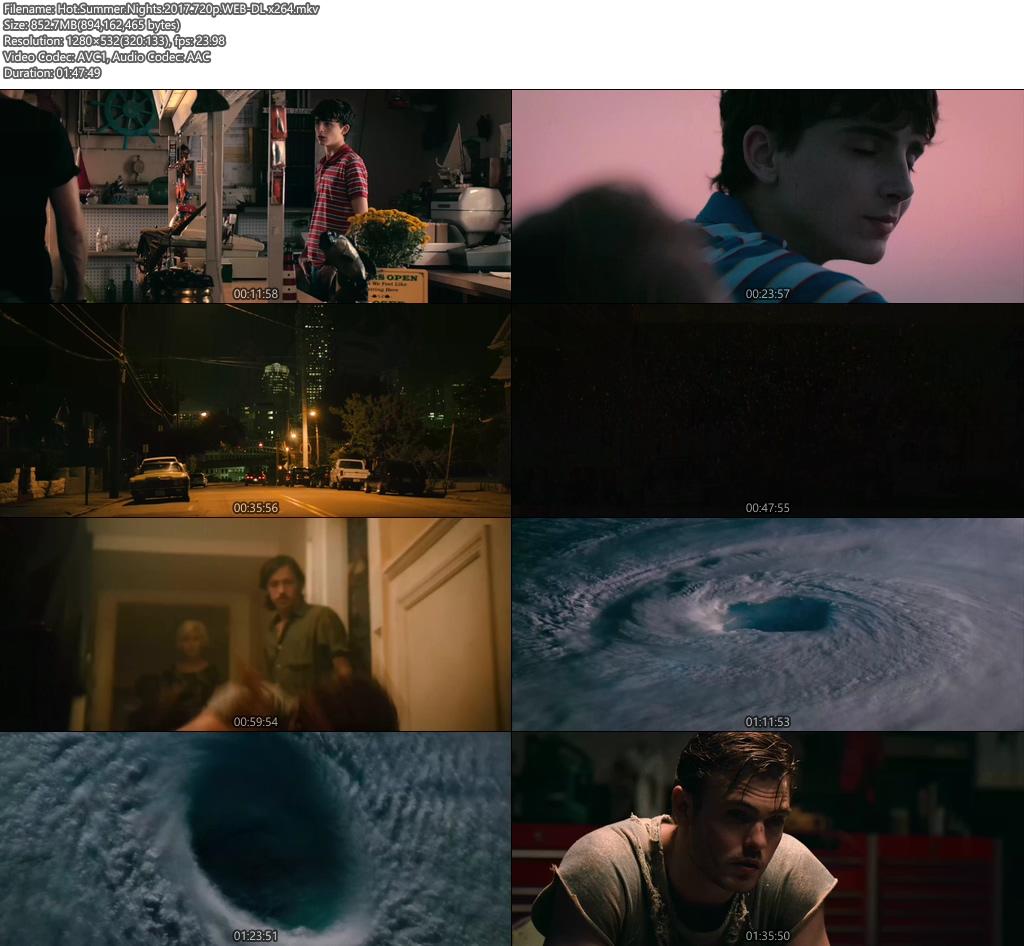Hot Summer Nights 2017 720p WEB-DL x264 | 480p 300MB | 100MB HEVC Screenshot
