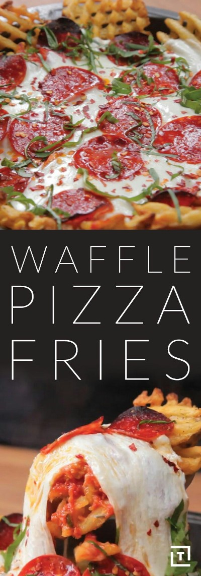 Waffle Pizza Fries