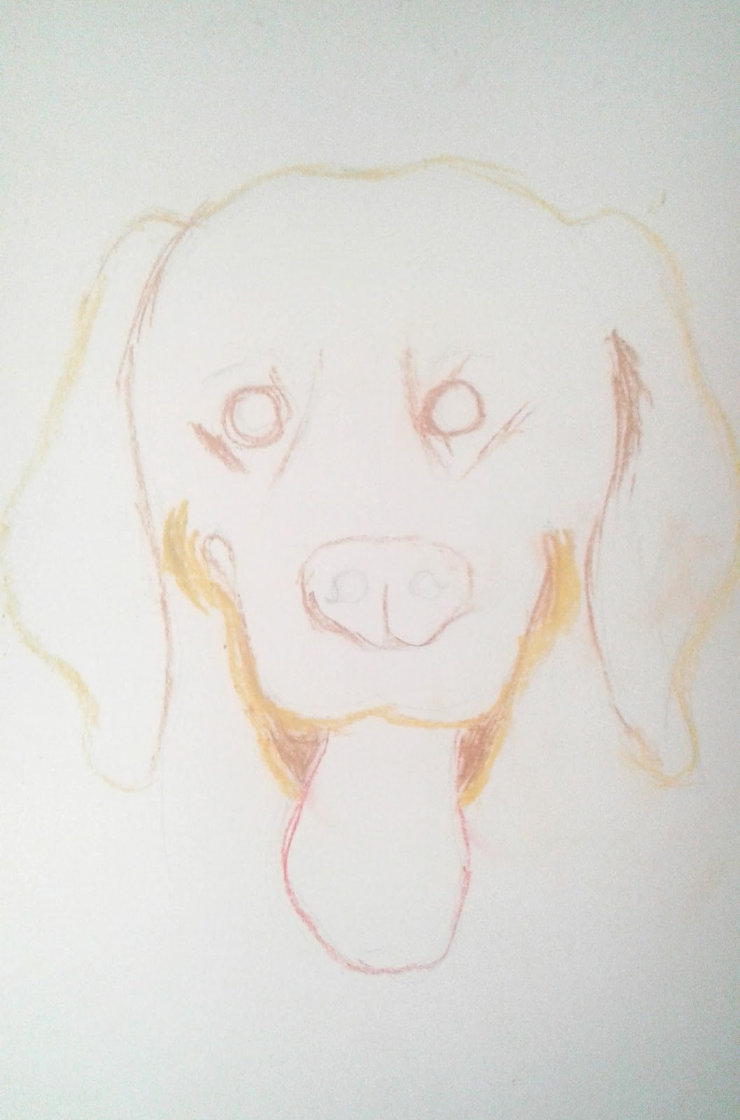 Mewarnai Gambar Seekor Anjing Menggunakan Pastel NUANSA GAMBAR