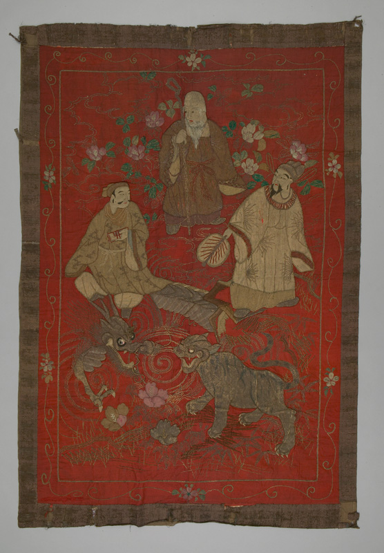 Embroidered wall hanging, Japan, late 19th century
