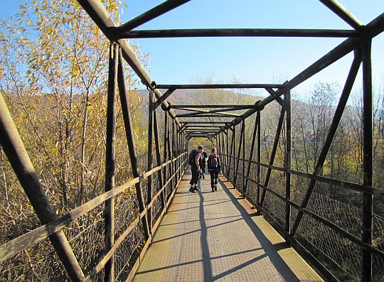 Hańczowa. Most nad rzeką Ropa.