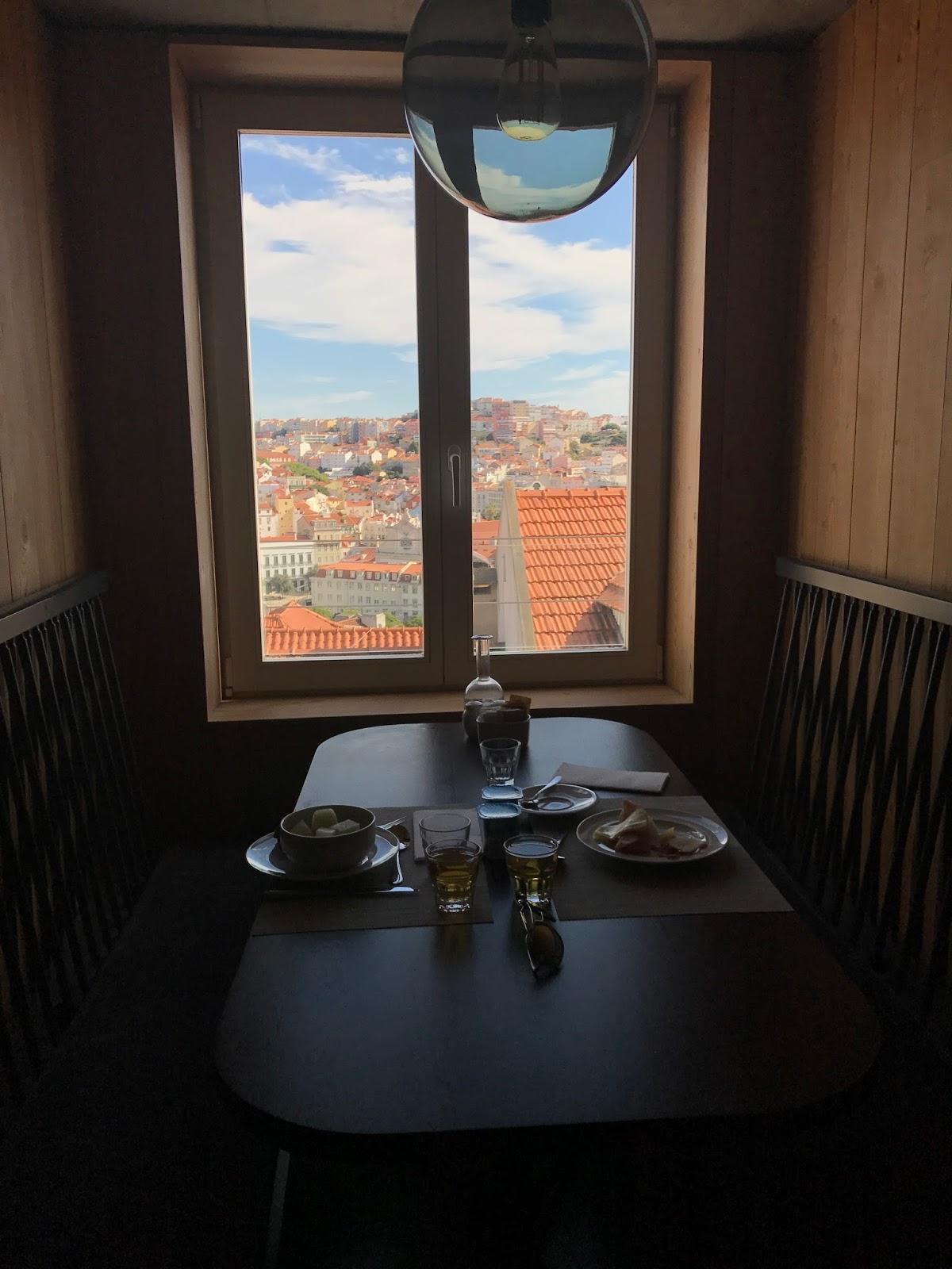 Lisboa Pessoa Hotel breakfast view over Lisbon