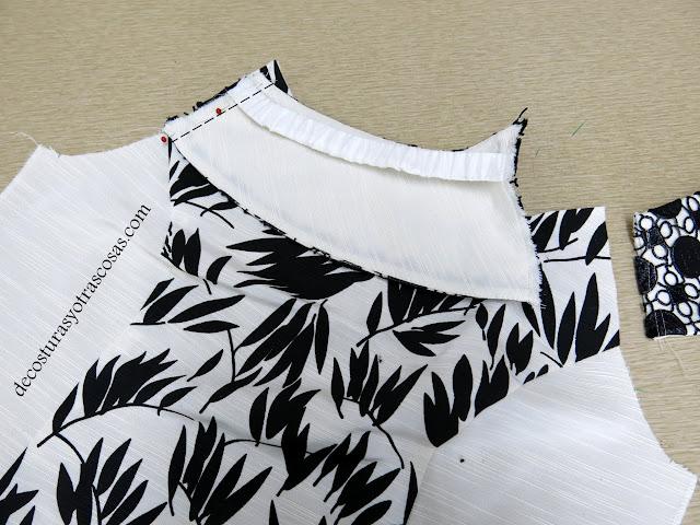 como hacer un vestido de fiesta blanco y negro