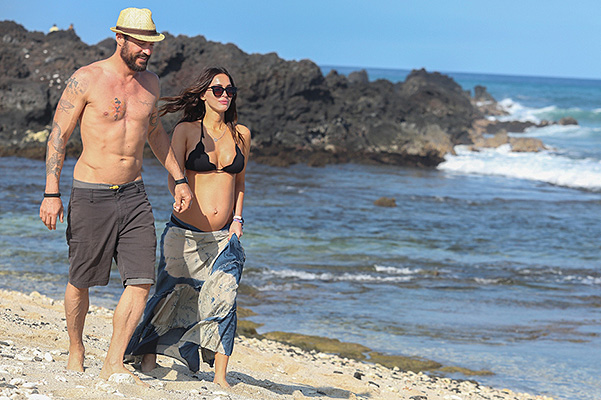 Megan Fox and Brian Austin green on vacation