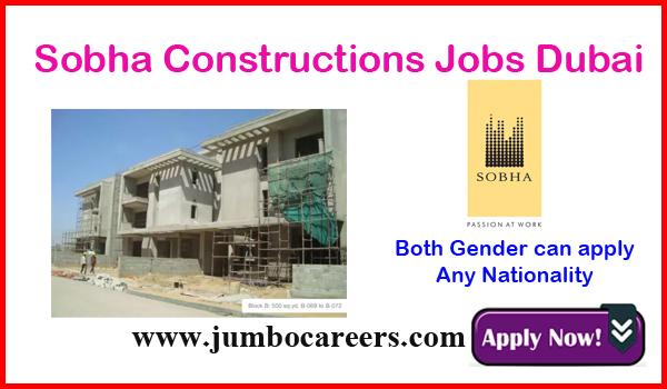 Latest Jobs at Sobha Constructions Dubai 2020 - 2021