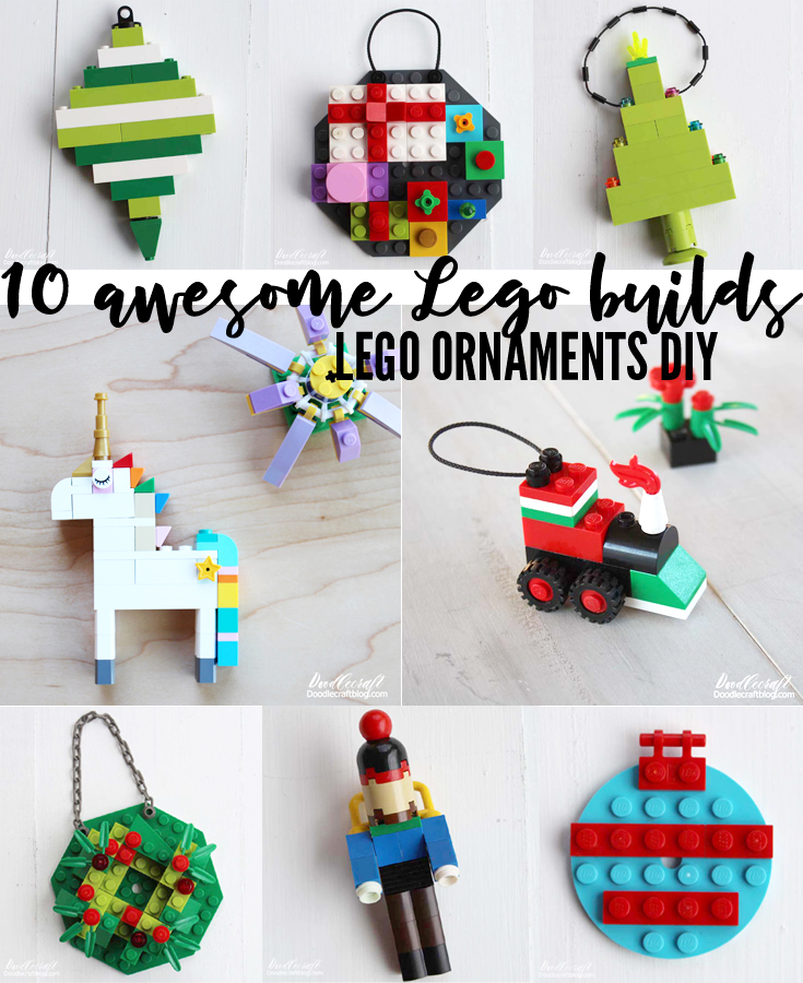 Ten Christmas Ornaments Dyi By Cindy Lou Who In 2020 10+ Lego DIY Ornaments To Build This Holiday!