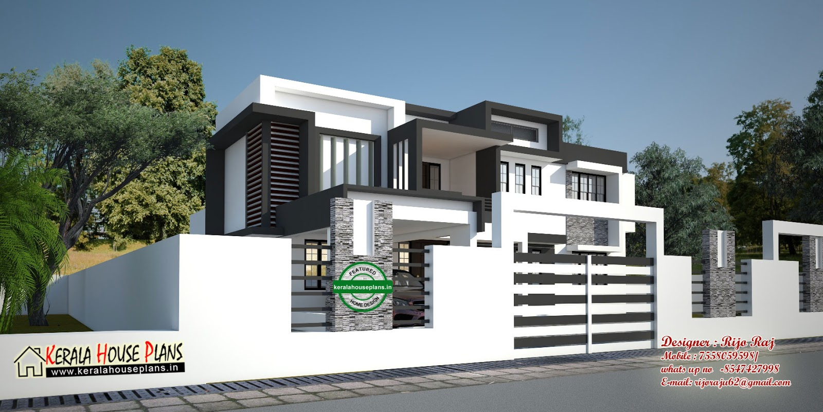 Kerala house plans designs floor plans and elevation for Contemporary house in kerala