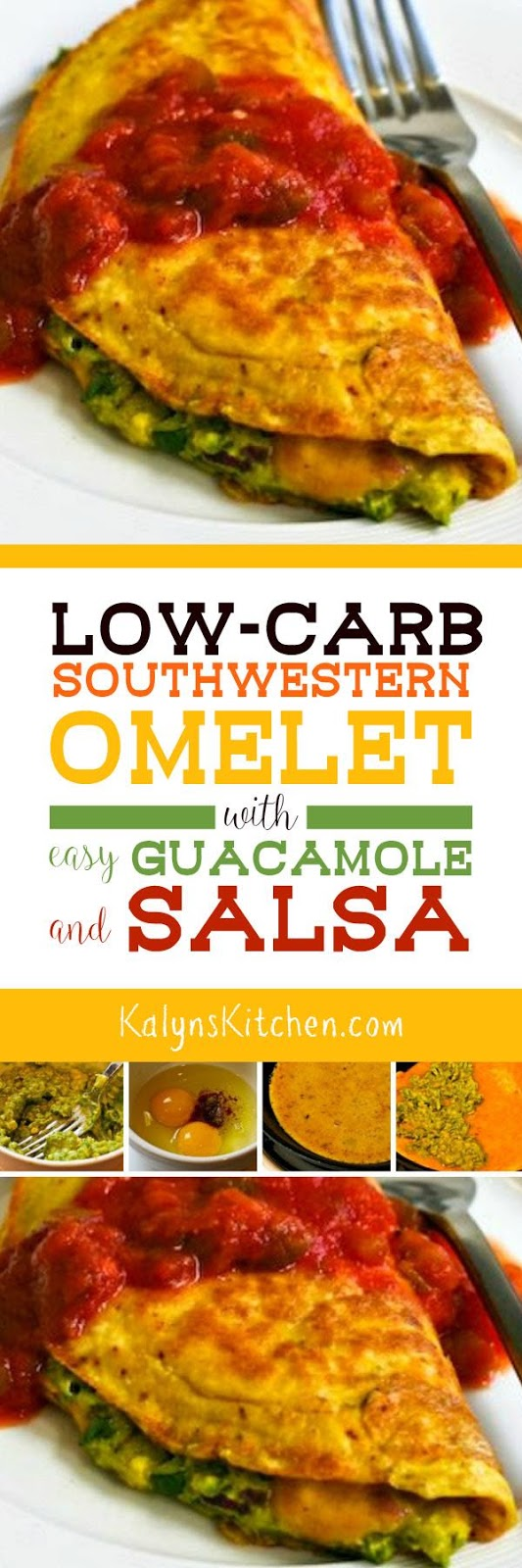 Low-Carb Southwestern Omelet with Easy Guacamole and Salsa ...