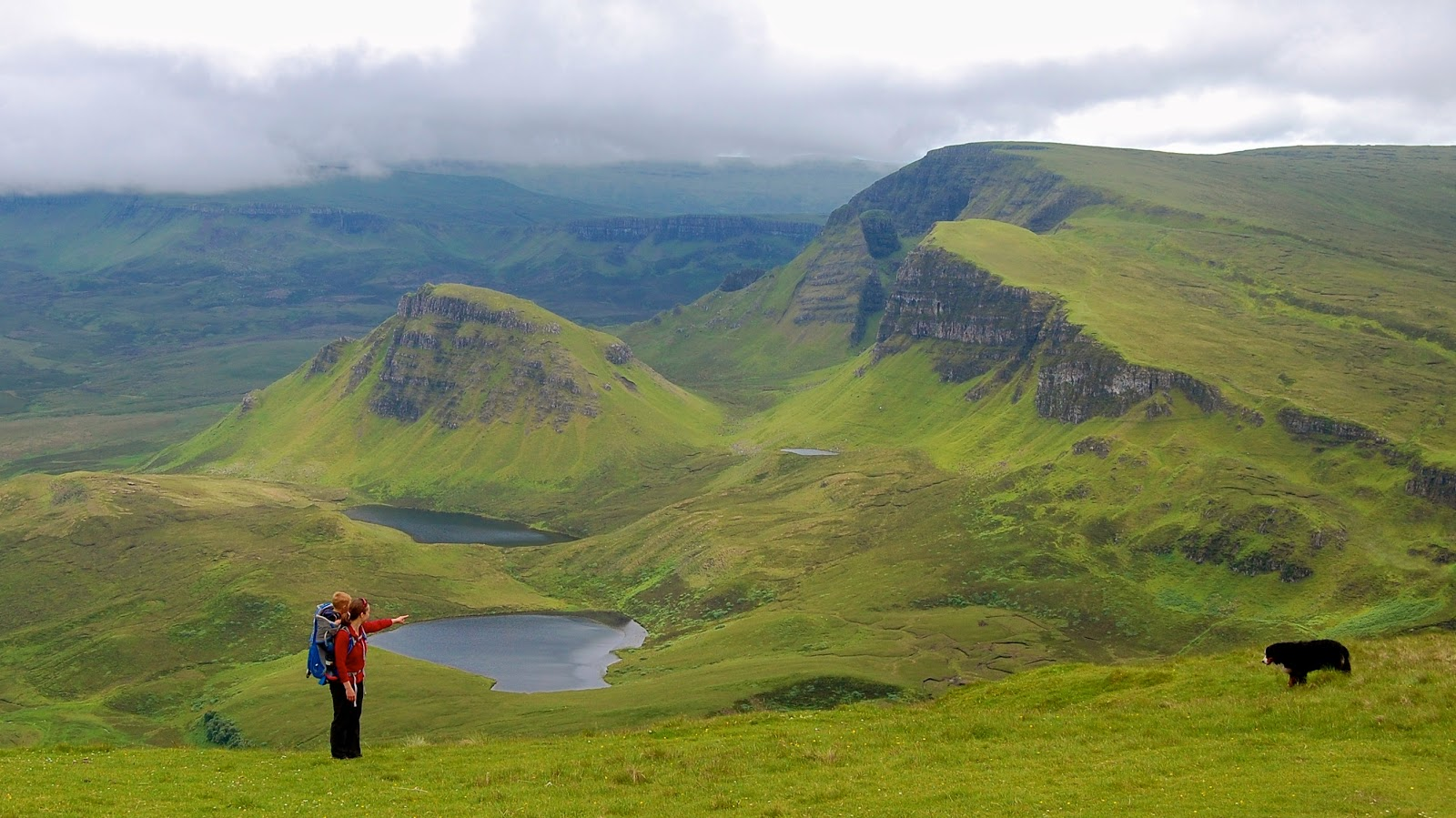 Hiking on the Trotternish Peninsula on the Isle of Skye