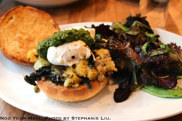 Egg Begley Jr. with Kale, Potato Hash, Poached Egg, Chimichurri