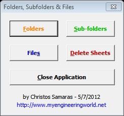 Folders, Subfolders & Files