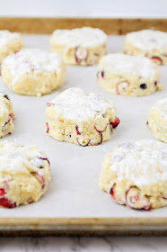 These cranberry orange scones are so light and tender, and perfectly sweetened!