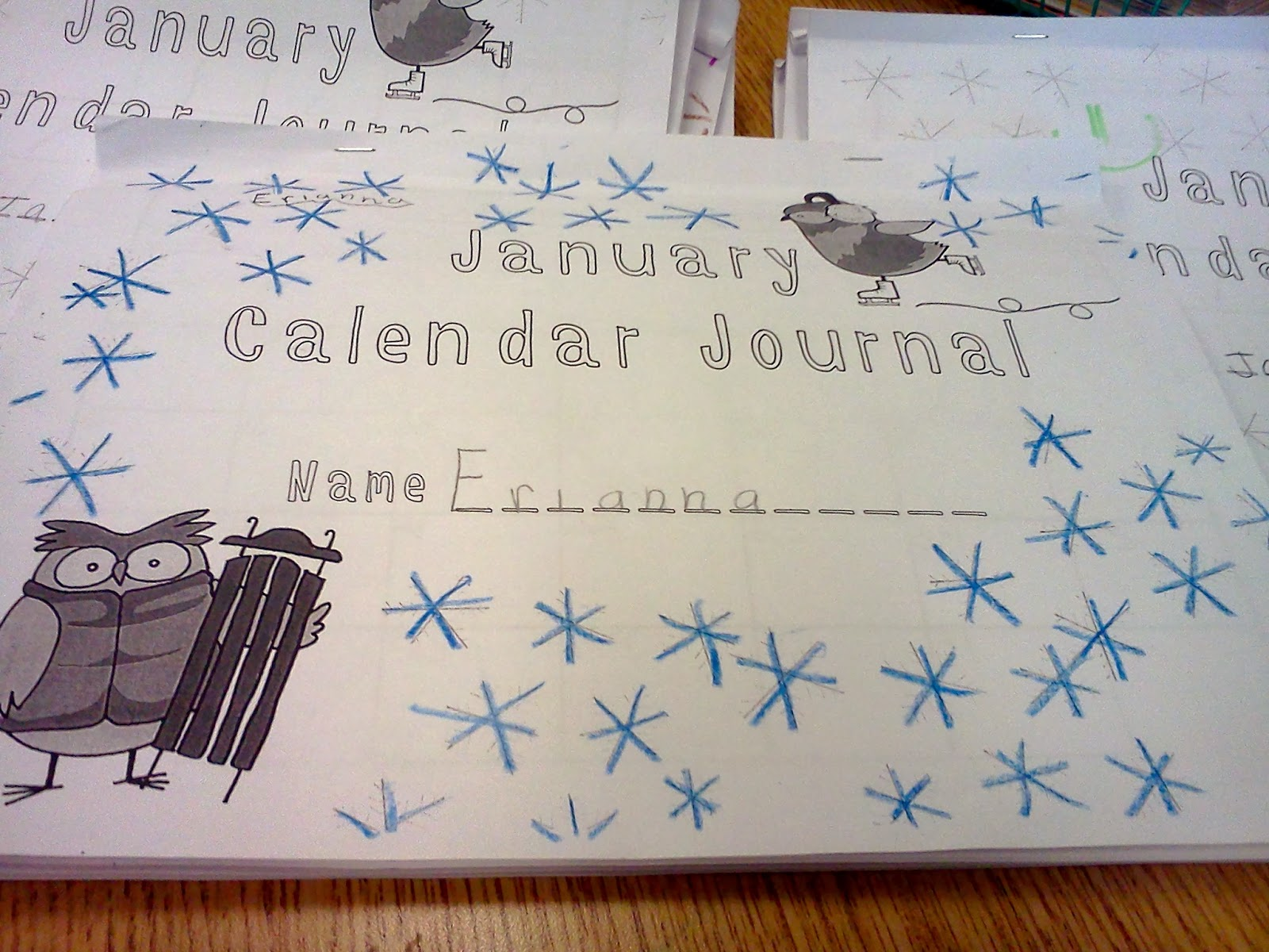Second Grade Sprouts Monthly Math Calendar Journals