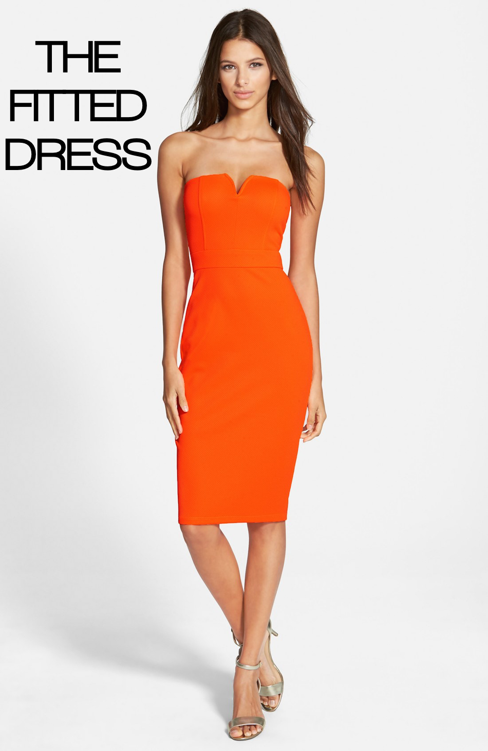 Speechless Notched Strapless Midi Dress