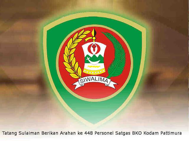 Tatang Sulaiman Berikan Arahan ke 448 Personel Satgas BKO Kodam Pattimura
