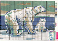 Схема вышивки белого медведя