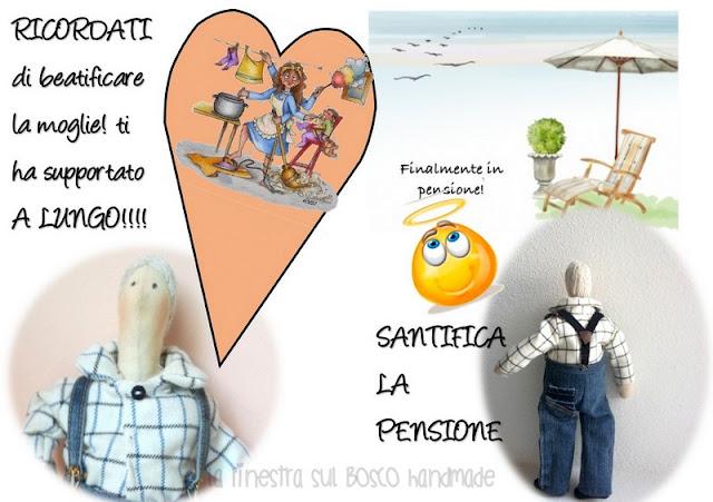 La Finestra Sul Bosco Handmade Biglietto Auguri Pensione Con Gadget