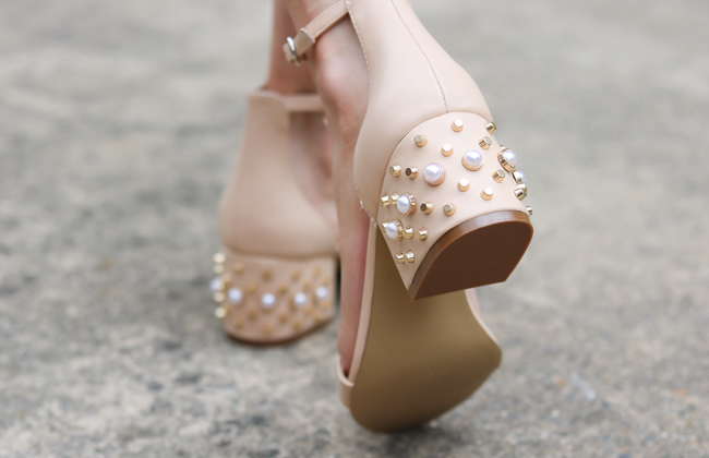 tan jeweled ankle strap sandals