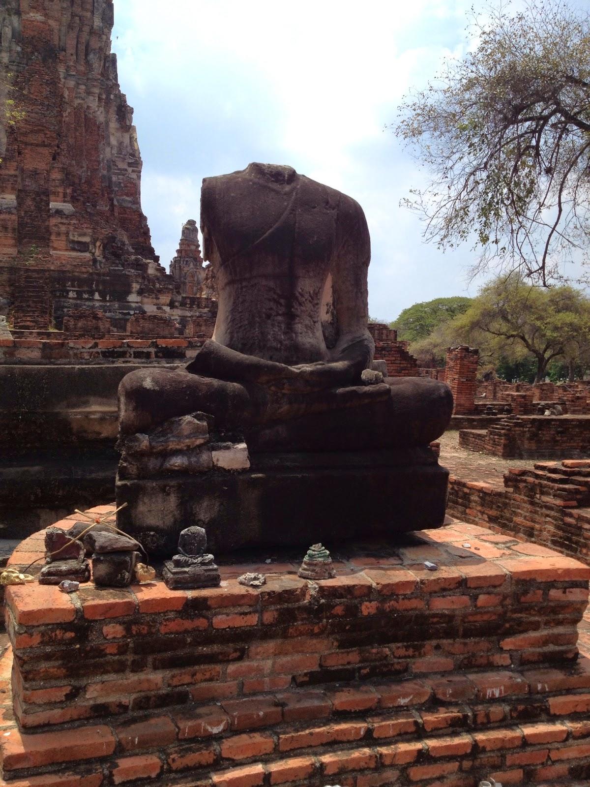 Ayutthaya - Beheaded Buddha statue at Wat Phra Ram