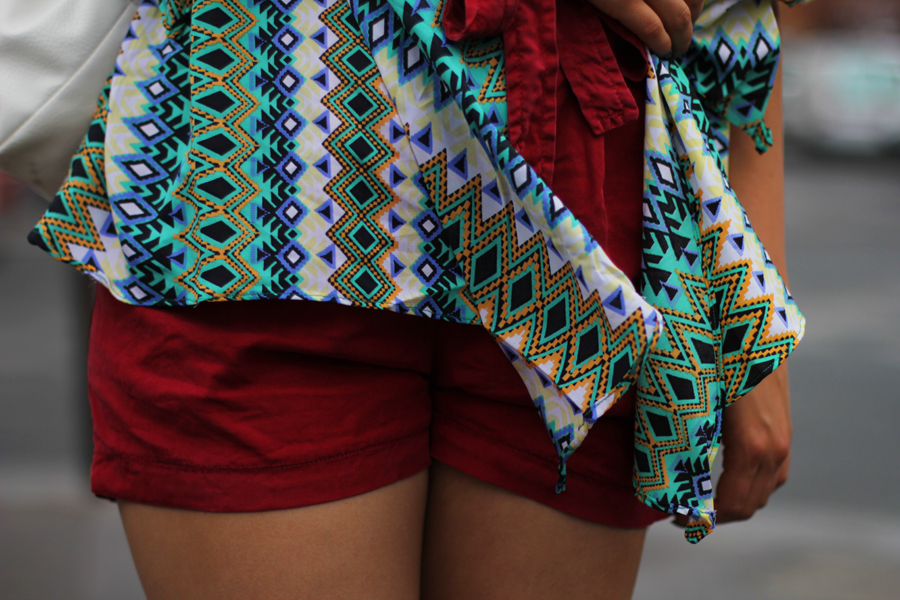 bluse shorts backpack
